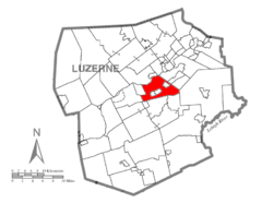 Map of Luzerne County, Pennsylvania Highlighting Hanover Township.PNG