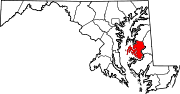 Map of Maryland highlighting Talbot County.svg