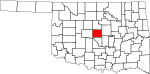 State map highlighting Oklahoma County