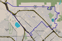 Sylmar, as delineated by the Los Angeles Times