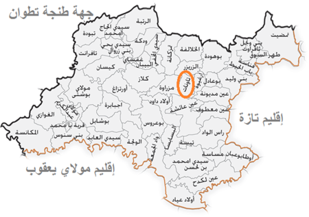 Map of Taounate Province AR.png