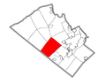 Map of Upper Macungie Township, Lehigh County, Pennsylvania Highlighted.png