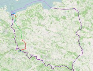 National road 3 (Poland) - Image: Mapa DK3