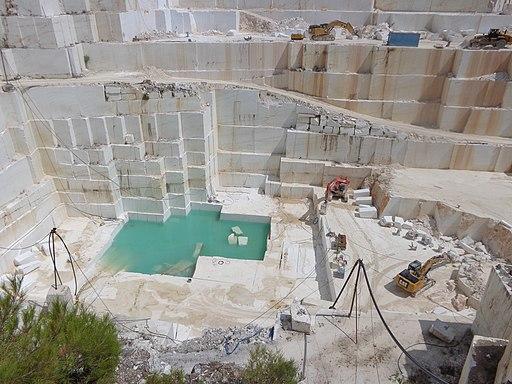 Marble quarry Thasos island