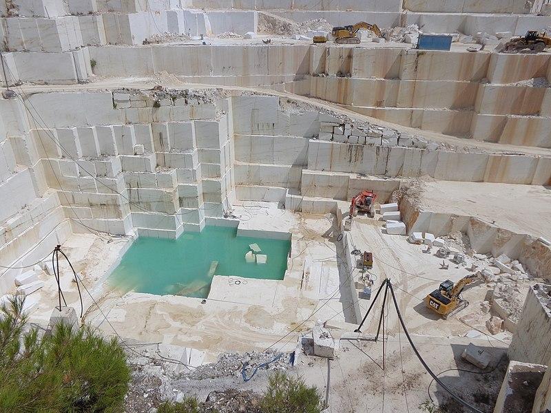 File:Marble quarry Thasos island.jpg