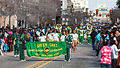 Marching bands at the 2013 Krewe of Harambee MLK Day Mardi Gras Parade in Shreveport.jpg