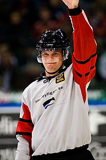Marcus Vinnerborg Swedish professional ice hockey referee