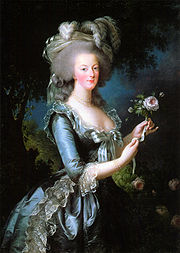 Marie Antoinette was a major fashion icon during the late 18th century.
