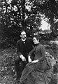 Marie og Fritz Rustad - ca. 1885 - Marie Magdalena Rustad - Oslo Museum - OB.Z05465.jpg