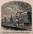 Marine and City Hospital, Mobile, Alabama. Wood engraving. Wellcome V0013972.jpg