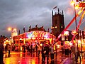 Market Place fair and St Mary's Church, in Ilkeston, Derbyshire 04.jpg