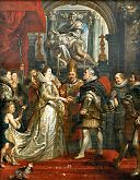 Marriage of Maria de' Medici and Henri IV per proxy Rubens.jpg