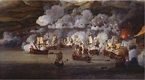 Martinique - The attack on the French ships at Martinique in 1667