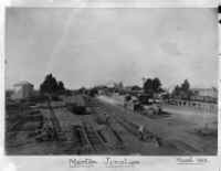 Marton Junction showing railway yards and the railway station, March 1909 ATLIB 339957.png