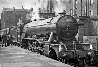 Marylebone station - Manchester-bound express waiting at Marylebone in 1956, headed by an A3 Pacific