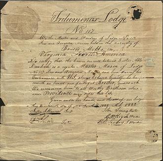 Brucetown, Virginia - Freemason Trilumniar Lodge No. 117 was first located in Brucetown, Virginia