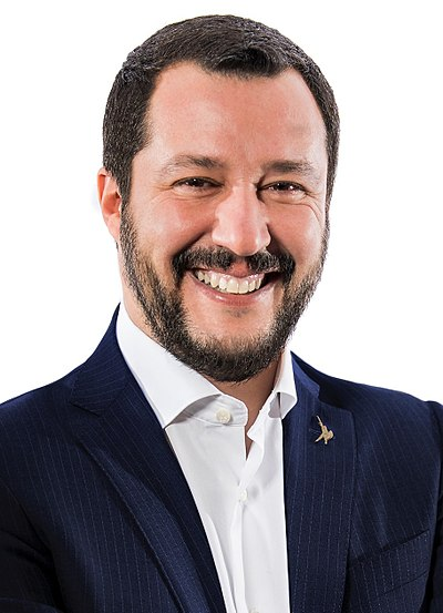 Italy's Deputy Prime Minister and League's leader, Matteo Salvini, is considered one of the most prominent right-wing populist politicians in Europe. Matteo Salvini Viminale (cropped).jpg