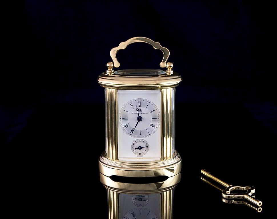 Matthew Norman carriage clock with winding key