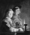 Matthias Stom - An Old Woman and a Youth by Lamplight - KMSsp152 - Statens Museum for Kunst.jpg