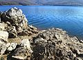 Mavrovo Lake and rocky coastal part 4.JPG