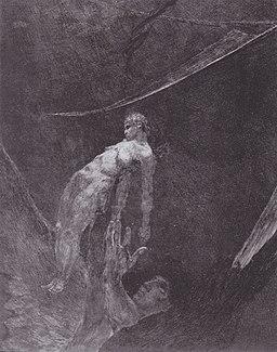 """Max Klinger - Aus dem Zyklus """"Ein Leben"""" Ins Nichts zurück (Opus VIII, Blatt 15-15)"""