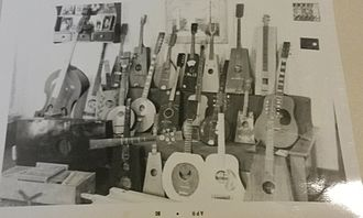 Guitalin - Collection of Mayfield instruments, April 1980