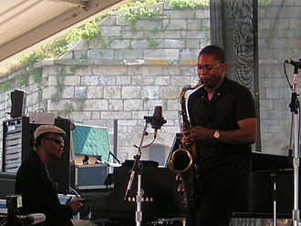 Newport Jazz Festival - McCoy Tyner and Ravi Coltrane perform at the Newport Jazz Festival on August 13, 2005.