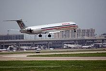 Un MD-83 dell'American Airlines
