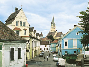 Mediaș - The historic city centre of Mediaș in 2006