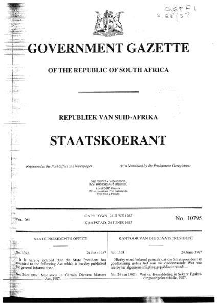 File:Mediation in Certain Divorce Matters Act 1987.djvu