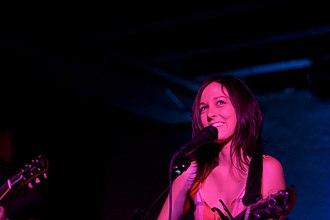 Meiko (American singer) - Meiko performing in 2008.