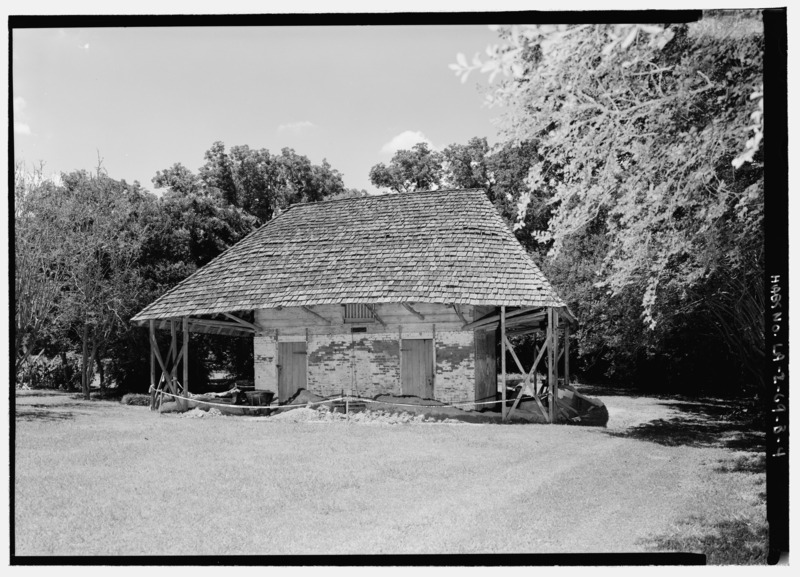 File:Melrose Plantation, African House, State Highway 119, Melrose, Natchitoches Parish, LA HABS LA,35-MELRO,1B-4.tif