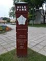 Memorial column to János Hild in Hild Park, 2019 Ajka.jpg