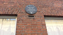 Photo of Bram Stoker brown plaque