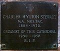 Memorial to Charles Hylton Stewart in Chester Cathedral.JPG