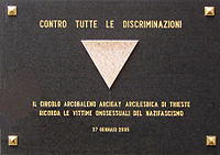 Memorial to Gay Victims of the Holocaust in Risiera di San Sabba.jpg