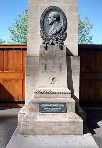 George Rowland Hill - Memorial to Sir George Rowland Hill inside Twickenham Stadium