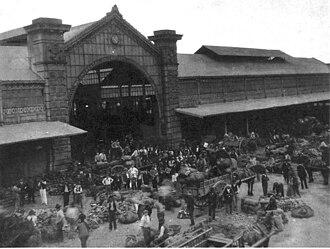 Abasto de Buenos Aires - The Mercado de Abasto in 1929.