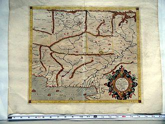 Alexandria Arachosia - Mercator Map (1578) - Asiae-Tabula IX
