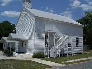 Orange Springs, Florida - The historic Methodist Episcopal Church