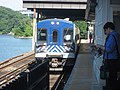 Metro-North train from Poughkeepsie pulling into Marble Hill Station.jpg