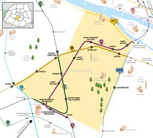 Map Of Paris France 6th Arrondissement.6th Arrondissement Of Paris Wikipedia