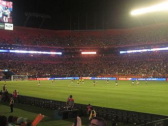Base de Jugadores de la Selección de fútbol de Colombia, enfrentando en un Amistoso a la Selección de Mexico, el 29 de febrero de 2012, en el Sun Life Stadium de Miami.
