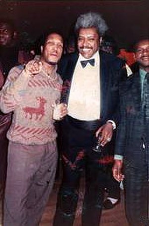 Don King (boxing promoter) - King with producer Michael Ellis, 1985