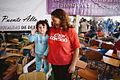 Michelle Bachelet participa en un encuentro con dirigentes sociales y vecinales de Puente Alto. (8657369949).jpg