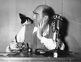 CHKT - Announcer Mickey Lester at CKEY in 1955