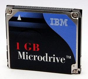 1 GByte IBM MicroDrive.