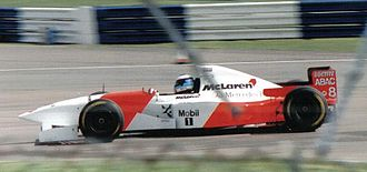 Mika Häkkinen - Häkkinen driving for McLaren at the 1995 British Grand Prix