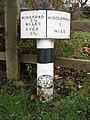 Milepost Stanthorne Near Winsford - geograph.org.uk - 288729.jpg