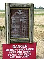 Military Firing Range Sign - geograph.org.uk - 391613.jpg